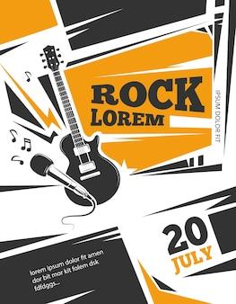 Live muziek vector poster sjabloon
