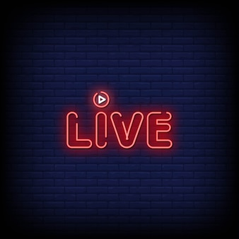 Live neon signs style-tekst