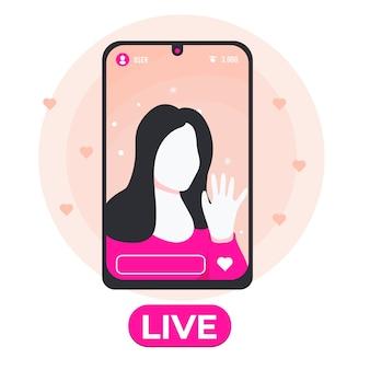 Live stream concept geïllustreerd