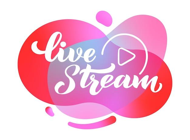 Live stream hand tekenen belettering voor projecten website live stream videochat