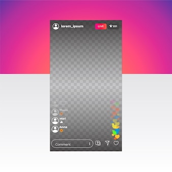 Live stream instagram-interface