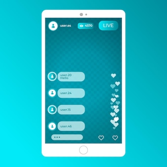 Live stream instagram-interface