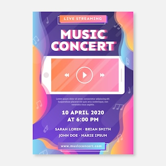 Live stream muziek concert poster