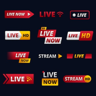 Live stream nieuws banners pack