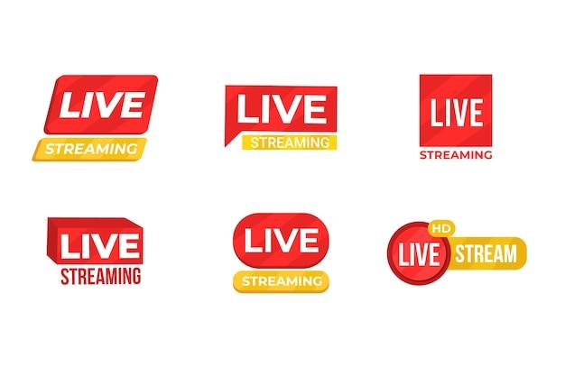 Live stream nieuws banners sjabloon