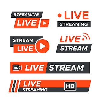Live stream nieuws banners thema