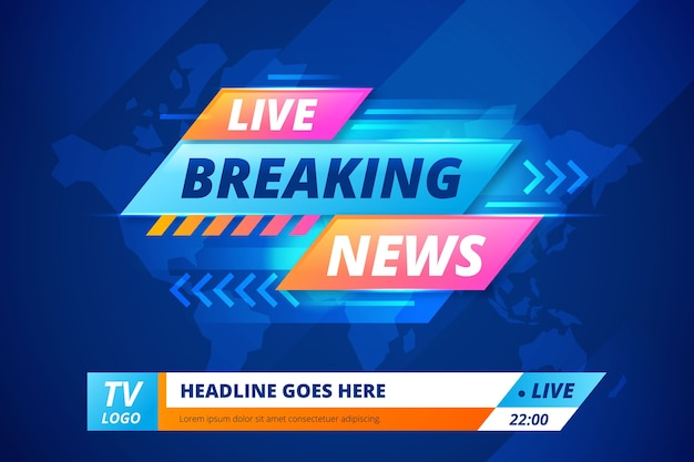 Live streaming breaking news-banner