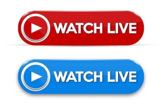 Live streaming concept geïsoleerd pictogram