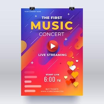 Live streaming muziek concertposter