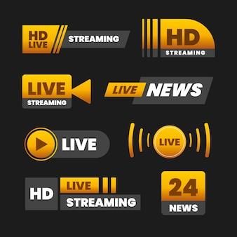 Live streams nieuws banners ontwerpen