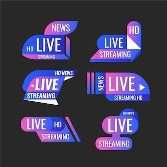Live streams nieuws banners stijl