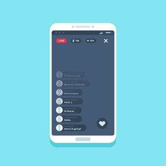 Live videostream op telefoon
