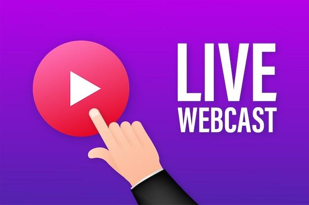 Live webcast knop illustratie