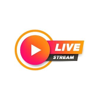 Livestream met het pictogramsymbool van de afspeelknop.