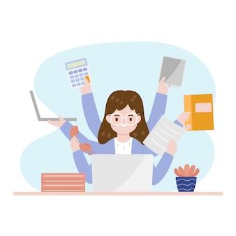 Llustration van multitasking concept
