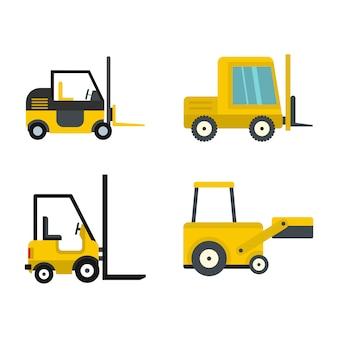 Loader pictogrammenset. platte set van loader vector iconen collectie geïsoleerd