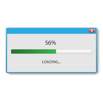 Loading bar voor ui en ux ontwerp. vector illustratie