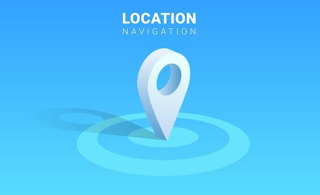 Locatie aanwijzer pictogram ontwerp