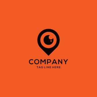 Locatie en oog combinatie logo's