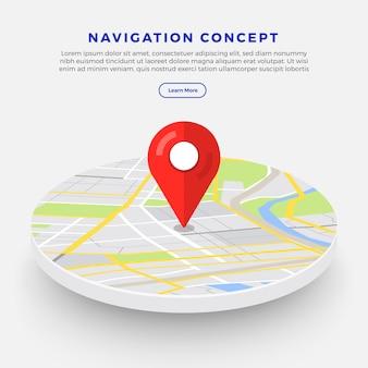 Locatie navigator concept