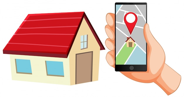 Locatie pin op pictogram van mobiele applicatie