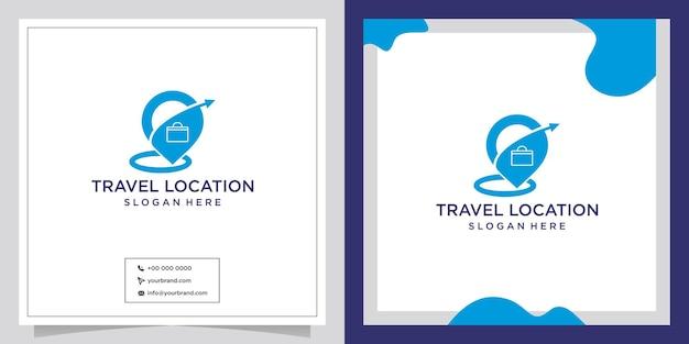 Locatie punt reizen ontwerp logo