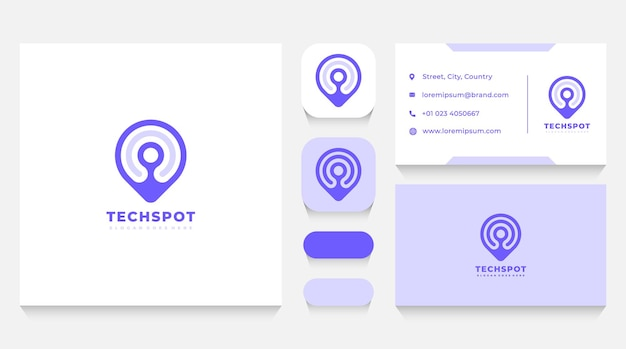 Locatie spot logo-sjabloon en visitekaartje