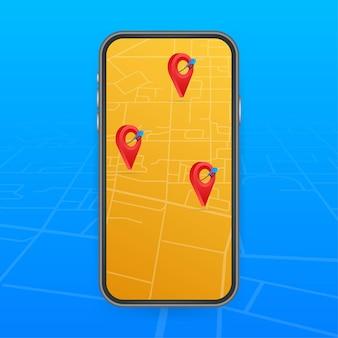 Locatie van het benzinestationpictogram. brandstofpomp, locatie tankstation.