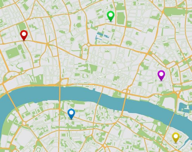 Locatiekaart van de stad