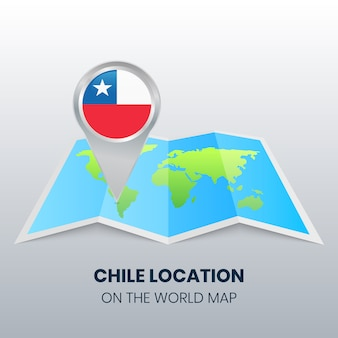 Locatiepictogram van chili op de wereldkaart