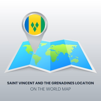 Locatiepictogram van saint vincent en de grenadines op de wereldkaart
