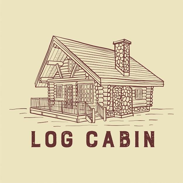 Log cabin illustratie