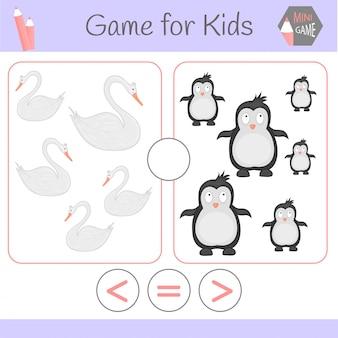 Logica educatief spel voor kleuters.cartoon grappige robots. kies het juiste antwoord.