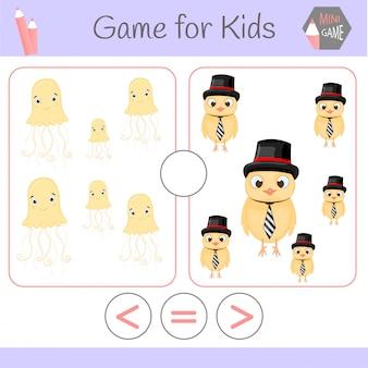 Logica educatief spel voor kleuters.cartoon grappige robots.