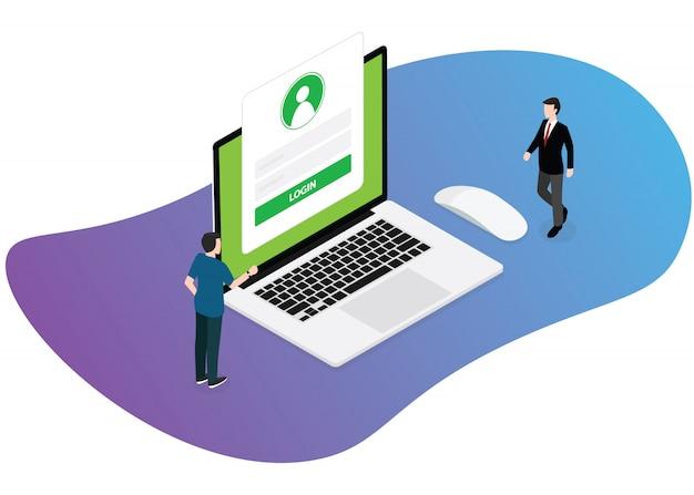 Login-technologie website
