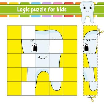 Logische puzzel voor kinderen.
