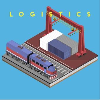 Logistiek bedrijfs industrieel geïsoleerd pictogram op achtergrond