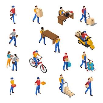 Logistiek en levering icons set