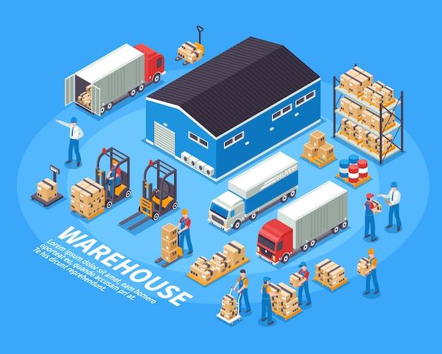 Logistiek en magazijn illustratie