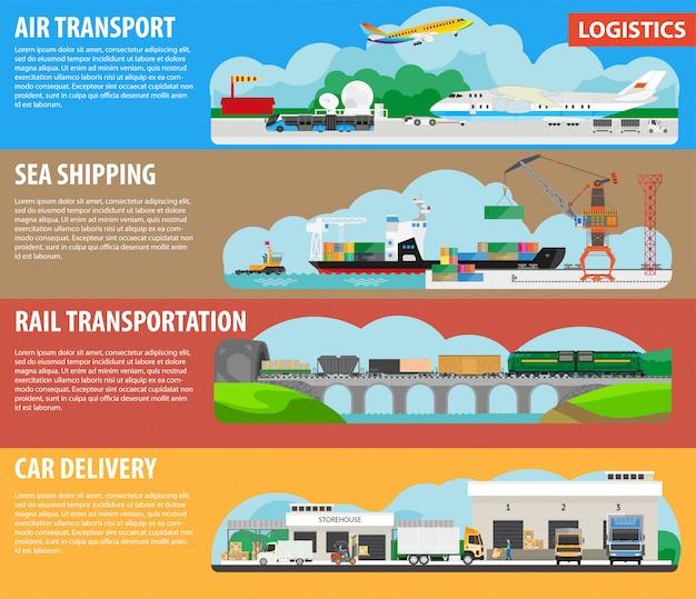 Logistiek en verzendtypes infographics