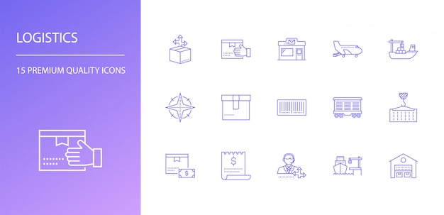 Logistiek icon set