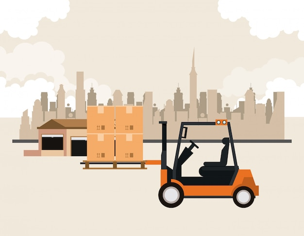 Logistiek vrachtcontainer van vrachtvervoer