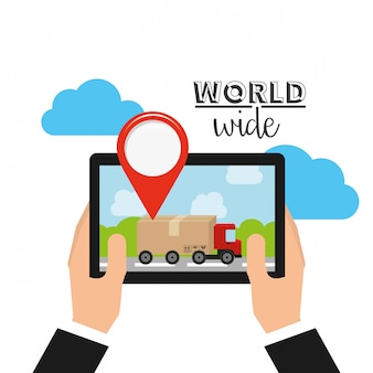 Logistiek wereldwijd concept