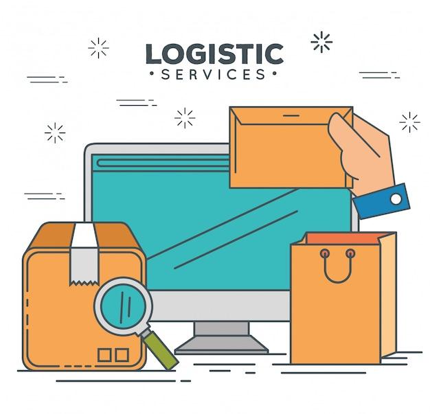 Logistieke diensten met computer