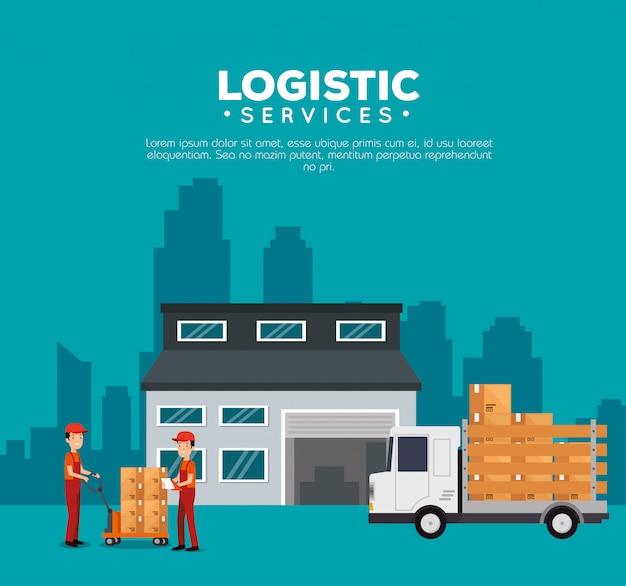 Logistieke diensten met magazijnbouw