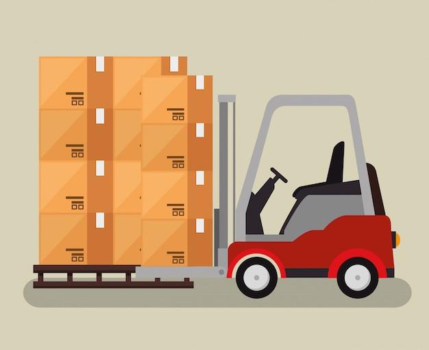 Logistieke diensten met vorkheftruck
