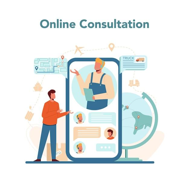 Logistieke en bezorgdienst online dienst of platform