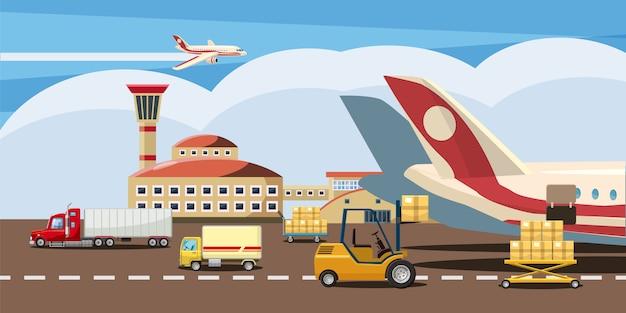 Logistieke horizontale achtergrond