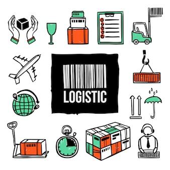 Logistieke icon set