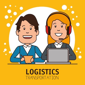 Logistieke manager infographic bezorgingslading